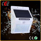 Lumière Emergency extérieure de mur de détecteur de mouvement de jardin de garantie d'énergie solaire de DEL