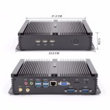 Industrieller Computer X86 Fanless PC mit 2 Gerippe-Motherboard Bildschirmanzeige-Intel-Celeron 1007u SATA 2tb HDD