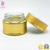 Contenitore di vetro cosmetico dorato per crema facciale