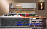 2017 de Nieuwe MDF van Foshan Zhihua Houten Waterdichte AcrylKeukenkast van de Flat