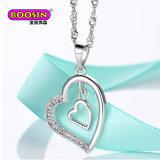 Venda a quente 925 Caixa de jóias de prata colares de corrente para as mulheres