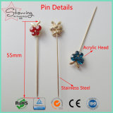 30 pedazos decorativos de la mariposa de la bufanda musulmán cristalina colorida de la pista del Pin recto de Hijab