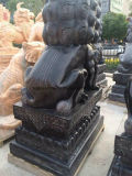 Hoe te om een Paar van Graniet/de Marmeren het Snijden van de Steen Leeuw van Beeldhouwwerken voor Verkoop te snijden