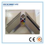 Tissu pour rideaux en aluminium de bâti de Roomeye vers l'extérieur ou guichet en verre d'oscillation d'ouverture vers l'intérieur