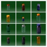 OEM de Oplosbare Plastic Verpakkende Flessen van de Geneeskunde van het Huisdier van Producten met Kappen