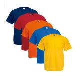 De Baumwolle camisas aptas 100% del asiduo llano de las mierdas de la camiseta colorido