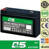 6V10.0AH batería recargable, para luz de emergencia, iluminación al aire libre, lámpara solar del jardín, linterna solar, luces de camping solar, luz de la antorcha solar, ventilador solar, bulbo.