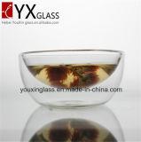 De de dubbele Kom van het Glas van de Muur/het Drinken van het Glas Borosilicate Kop van de Mok van het Glas