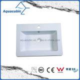 浴室の白いPolymarbleの洗面器Acb6004