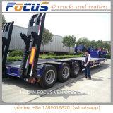 Hidráulico de la excavadora 60tons Lowbed extensible camión remolque semi