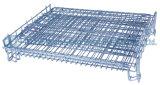 Faltender stapelbarer beweglicher Stahlspeicherineinander greifen-Rahmen