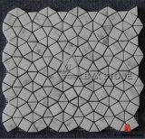 أبيض [شنس] رخام [موسيك تيل] لأنّ جدار زخرفة