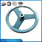 Rueda volante del engranaje del motor del hierro/de acero fundido de Custom/OEM de la pieza de la arena/para el equipo de la gimnasia
