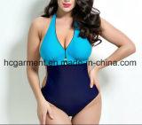 Swimsuit для женщин, износ шнурка большой заплывания Плюс-Размера цельный