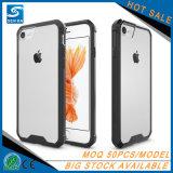 Cas en plastique dur de téléphone cellulaire de transparent pour l'iPhone 8