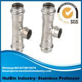 Acciaio inossidabile 304 accessorio per tubi del T di riduttore dei 316 montaggi della pressa