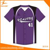 Il baseball caldo di stampa di sublimazione degli abiti sportivi di vendita di Healong abbottona la Jersey
