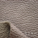 Geprägtes Leather Polyester Fabric mit Fleece Backside