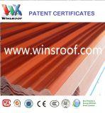 Telha de telhado de isolamento colorido UPVC