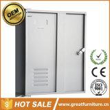 4ドアの更衣室の家具の鋼鉄はキャビネットの金属のロッカーに着せる