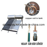 L'eau buvable Non-Gèlent le chauffe-eau solaire de caloduc avec l'homologation de la CE