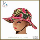 Kundenspezifische Sublimationwassermelone gedruckte Sun-Schutz-Hut-Wannen-Schutzkappe