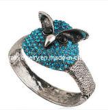 La moda de verano joyas chapado en Material de aleación de zinc con muebles antiguos de la Plata forma de búho con cristal incrustada Rhinestones Nickle Libre de Plomo (Pb-086)