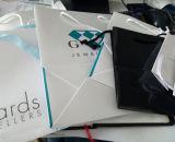 クラフトプリント紙袋のショッピングギフトのアートペーパーのキャリアのリングのイヤリングの吊り下げ式の腕輪のブレスレットのネックレスの宝石(F60F)のための装飾的な宝石類のパッキング袋