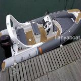 Vendita rigida della barca della nervatura della barca del guscio dell'yacht del lusso di Liya 20ft