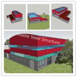 Material pre dirigido de la fábrica de la estructura de acero para construir el matadero