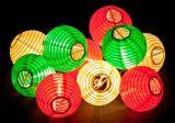 Indicatori luminosi alimentati solari della stringa con le lanterne cinesi
