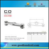 Abrazadera de vidrio pasamanos de acero inoxidable Co-3108