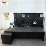 現代黒L形の執行部表の机(HY-0898)