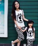 Noir et blanc du vêtement de sport Parent-Children
