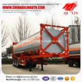 De prix usine d'OIN 40FT de conteneur de pétrolier remorque semi