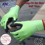 Areia Nmsafety Nitirle Anti-Cut revestida a luva de proteção