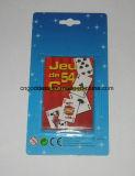 Papel y tarjetas que juegan publicitarias plásticas de la insignia de encargo de la tarjeta del póker