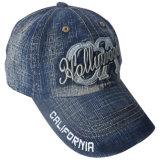 Тяжелых вымыта джинсовой бейсбола колпачок с логотипом Gjwd Nice1759