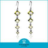Peridot Vogue joyas de plata pendientes con 2 días Deivery (E-0180)