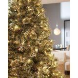 Árvore de Natal artificial de pré-iluminação de pinho espumante de 7.5FT com luzes LED (MY100.096.00)