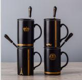 Tazas de cerámica de la porcelana de la taza de café con la tapa