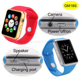Telefoon van het Horloge van Bluetooth de Slimme met de Groef van de Kaart SIM en 2.0m Camera (GM18S)