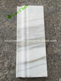 Forma de linterna Bianco mosaico de mármol Calacatta Oro