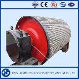 Puleggia della trasmissione per il nastro trasportatore con il pezzo fuso di gomma e la superficie di ceramica