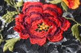 Bunte Blumen-wasserlösliche Stickerei-Spitze für Kleid