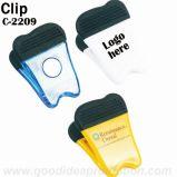 Clip magnético plástico Shaped del diente con la impresión de la insignia