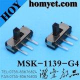 3pin DIP Slide Switch da China (MSK-1139)