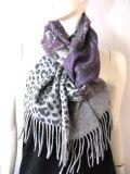 100%laine foulard imprimé double face