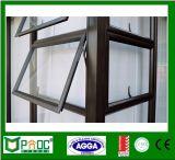 Ventana de aluminio revestida del toldo del polvo con el vidrio doble