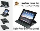 새로운 iPad, iPad 3/iPad 2 (EP-L03)를 위한 360 도 회전하는 가죽 케이스